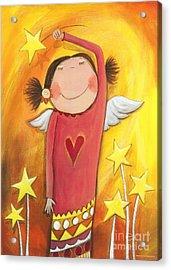 Sweet Angel Acrylic Print by Sonja Mengkowski