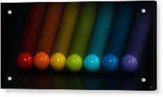 Acrylic Print featuring the photograph Sweet Candy Rainbow by Lisa Knechtel
