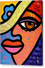 Sweet City Woman Acrylic Print