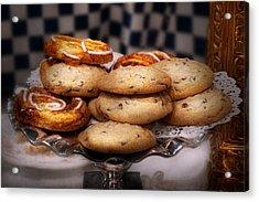 Sweet - Cookies - Cookies And Danish Acrylic Print by Mike Savad