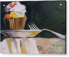 Sweet Cupcake Acrylic Print by Mary Hubley