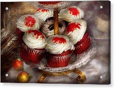 Sweet - Cupcake - Red Velvet Cupcakes  Acrylic Print by Mike Savad