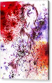 Sweet Death Kiss Acrylic Print by Rokon Chan