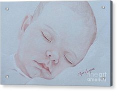 Acrylic Print featuring the drawing Sweet Dreams by Mary Lynne Powers