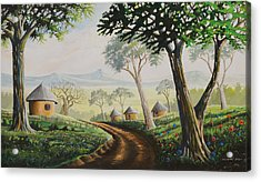 Acrylic Print featuring the painting Sweet Home by Anthony Mwangi