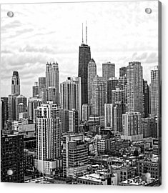 Sweet Home Chicago Bw Acrylic Print