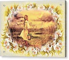 Acrylic Print featuring the painting Sweet Memories A Trip To The Shore by Irina Sztukowski