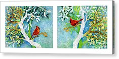 Sweet Memories Diptych Acrylic Print by Hailey E Herrera