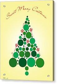 Sweet Merry Christmas Acrylic Print by Mark Ashkenazi
