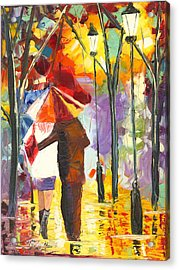 Sweet November Rain Acrylic Print by Jessilyn Park