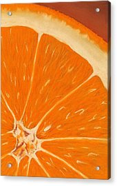 Sweet Orange Acrylic Print by Anastasiya Malakhova