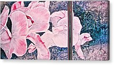 Acrylic Print featuring the painting Sweet Peas by Carolyn Rosenberger