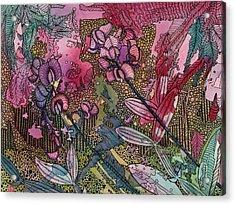 Sweet Peas In Bloom Acrylic Print