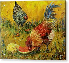 Sweet Pickins, Chickens Acrylic Print