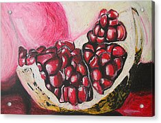 Sweet Pomegranate Acrylic Print by Michael Amos