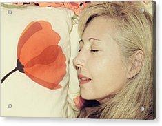 Sweet Poppy Dreams Acrylic Print