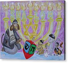Sweet Shalom Acrylic Print by Diane Pape