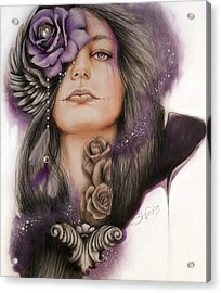 Acrylic Print featuring the drawing Sweet Sorrow by Sheena Pike
