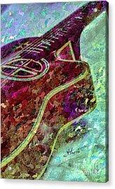 Sweet Sounds 3 Digital Guitar Art By Steven Langston Acrylic Print by Steven Lebron Langston