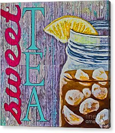 Acrylic Print featuring the mixed media Sweet Tea by Melissa Sherbon