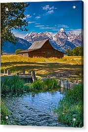 Sweet Teton Morning Acrylic Print by Rob Wilson