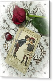 Sweet Valentine Couple Acrylic Print