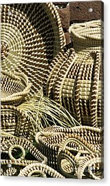 Sweetgrass Baskets - D002362 Acrylic Print