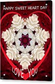 Sweetheart Card Acrylic Print by Debra     Vatalaro