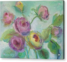 Acrylic Print featuring the painting Sweetness Floral Painting by Mary Wolf