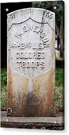 Swepson Tombstone 43rd U. S.  Colored Troops 2013 Acrylic Print