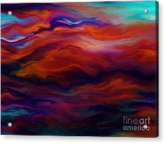 Swept By Volcanic Sky Acrylic Print by Kyle Wood