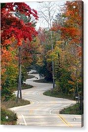Swervy Road At North Port Acrylic Print by David T Wilkinson