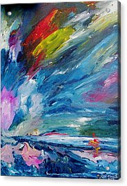 Acrylic Print featuring the painting Swift Movement by Ray Khalife