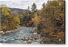 Acrylic Print featuring the photograph Swift River Autumn  by Richard Bean
