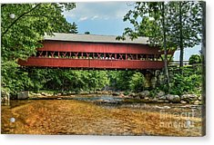 Acrylic Print featuring the photograph Swift River Covered Bridge Hew Hampshire by Debbie Green