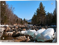 Swift River Ice Blocks Acrylic Print