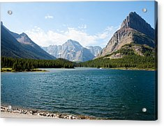 Swiftcurrent Lake Acrylic Print by John M Bailey