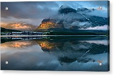 Swiftcurrent Lake Sunrise Acrylic Print
