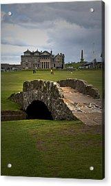 Swilken Bridge Vignette St Andrews Old Course Scotland Acrylic Print