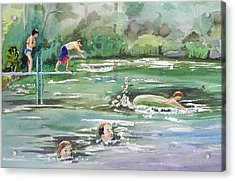 Swim At Little Elk Lake Acrylic Print by Christine Lathrop