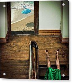 Swim Or Dive! Acrylic Print by Ambra