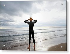 Swimmer On The Beach Acrylic Print