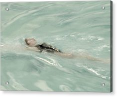 Swimmer Acrylic Print by Patricia Strand