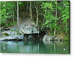 Swimming Hole At Rock Run Acrylic Print