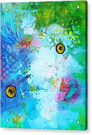 Swimming Acrylic Print by Nancy Merkle