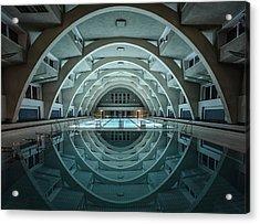 Swimming @night Acrylic Print