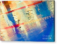 Swimming Pool 01b - Abstract Acrylic Print by Pete Edmunds