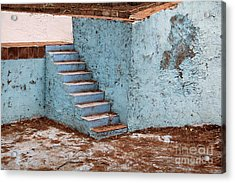 Swimming Pool At Exhacienda De Chautla Acrylic Print by Linda Queally