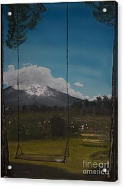 Acrylic Print featuring the painting Swing On Mt Hoods Fruit Loop by Ian Donley