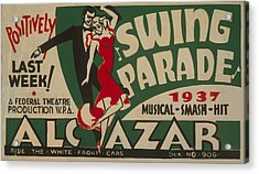 Acrylic Print featuring the mixed media Swing Parade Of 1937 by American Classic Art